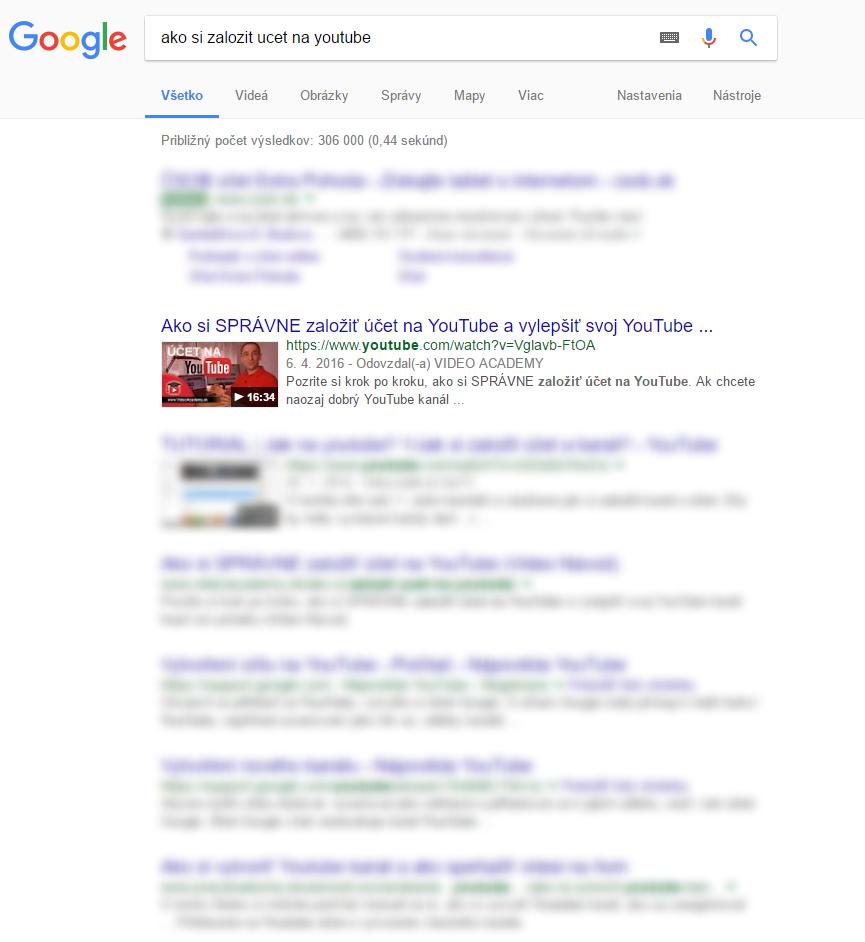 Google - Ako si zalozit ucet na youtube