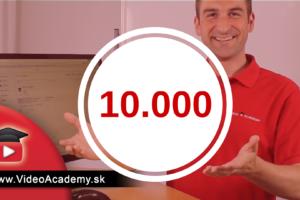 Ako vybudovať YouTube kanál z 0 na 10.000 odberateľov za 15 mesiacov
