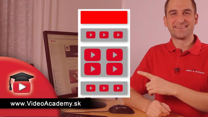 Ako pridávať sekcie do svojho YouTube kanála