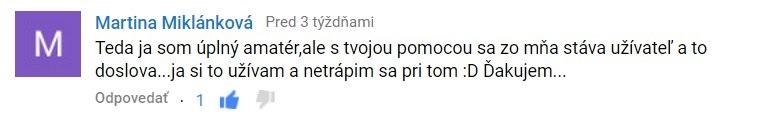 Martina Miklánková - komentár zVIDEO ACADEMY