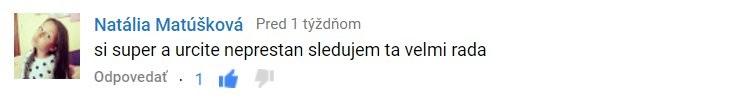 Natália Matúšková - komentár zVIDEO ACADEMY