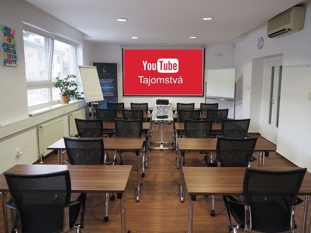 Miestnost pre kurz YouTube Tajomstva